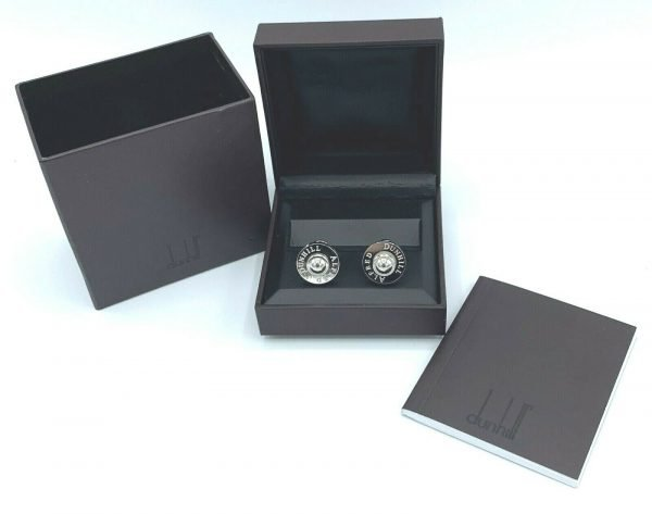 Dunhill JSE8234 Round Alfred Dunhill 925 Sterling Silver Mens Cufflinks Gift 113775243955 2