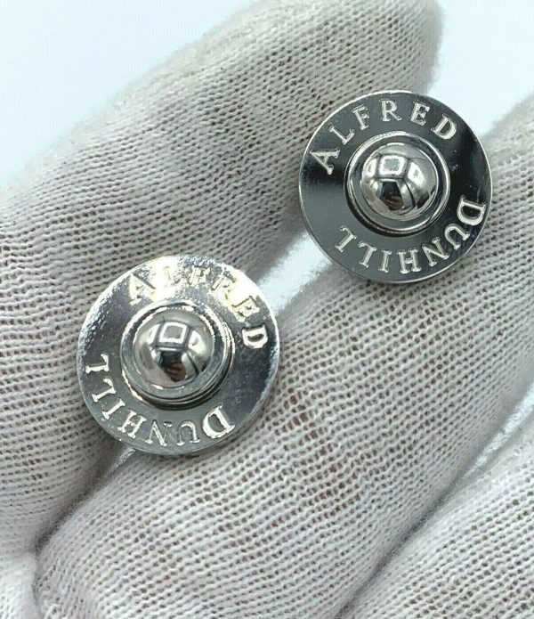 Dunhill JSE8234 Round Alfred Dunhill 925 Sterling Silver Mens Cufflinks Gift 113775243955 3