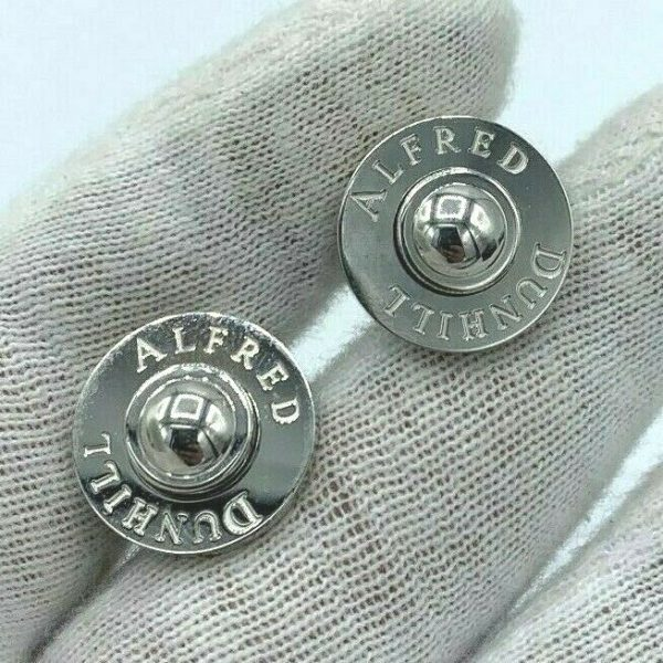 Dunhill JSE8234 Round Alfred Dunhill 925 Sterling Silver Mens Cufflinks Gift 113775243955 4