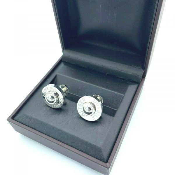 Dunhill JSE8234 Round Alfred Dunhill 925 Sterling Silver Mens Cufflinks Gift 113775243955 6