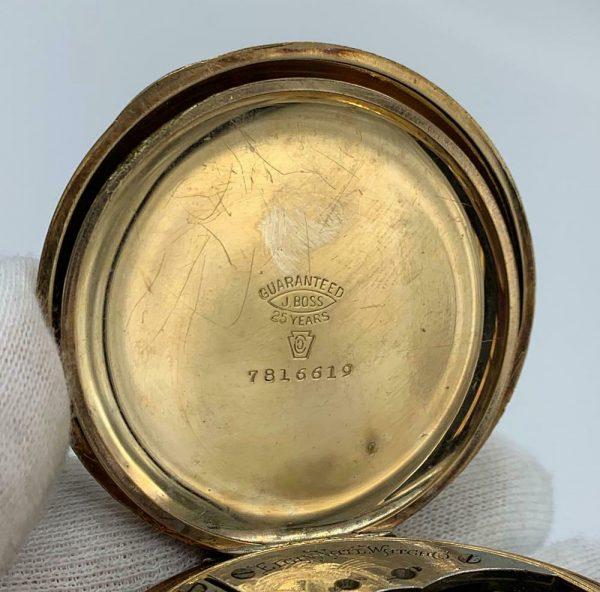 Elgin 16 Size 15 Jewels Gold Plated Open Face Gold Inlay Dial Pocket Watch 123908516785 7