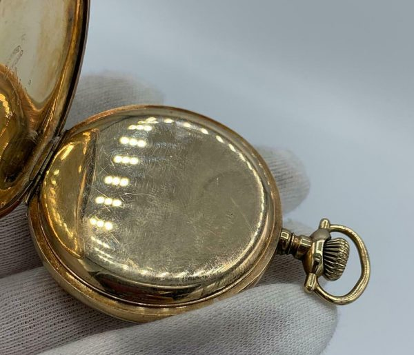 Elgin 16 Size 15 Jewels Gold Plated Open Face Gold Inlay Dial Pocket Watch 123908516785 9