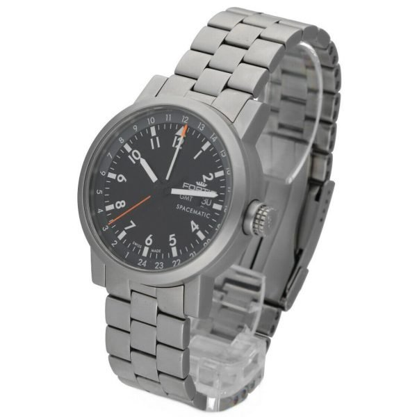 Fortis 62422148 GMT Spacematic Pilots Matte Steel 40mm Automatic Mens Watch 124306304595 2