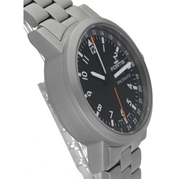 Fortis 62422148 GMT Spacematic Pilots Matte Steel 40mm Automatic Mens Watch 124306304595 3