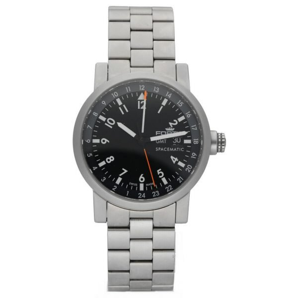 Fortis 62422148 GMT Spacematic Pilots Matte Steel 40mm Automatic Mens Watch 124306304595