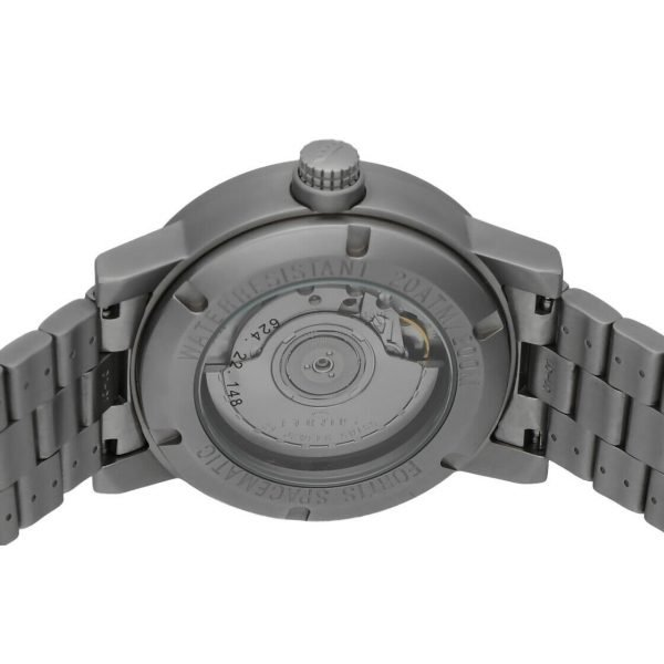 Fortis 62422148 GMT Spacematic Pilots Matte Steel 40mm Automatic Mens Watch 124306304595 8