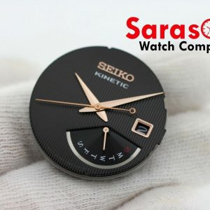 Genuine Seiko Kinetic SRN054 Black Rose Gold Complete Dial with Hands 113347268745