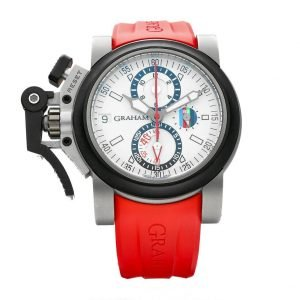 Graham RBS 6 Nations Chronofighter Oversize Referee Titanium Rubber Mens Watch 124124922645