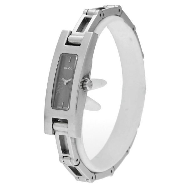 Gucci 3900L Stainless Steel Grey Dial Rectangle Swiss Quartz Womens Watch 114665258585 2