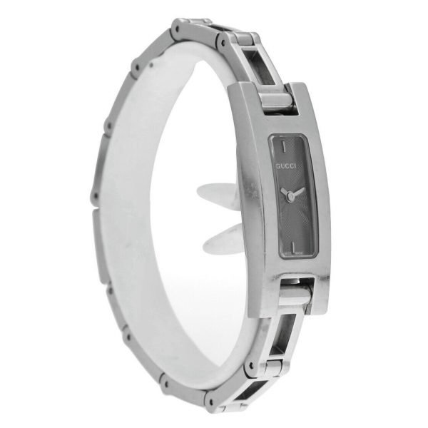 Gucci 3900L Stainless Steel Grey Dial Rectangle Swiss Quartz Womens Watch 114665258585 5