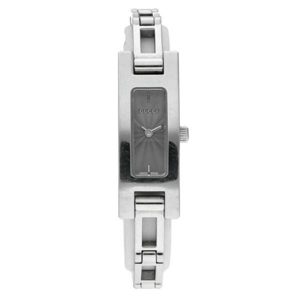 Gucci 3900L Stainless Steel Grey Dial Rectangle Swiss Quartz Womens Watch 114665258585