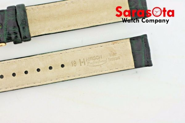 HIRSCH Professional Genuine Leather 1820 mm Long Stitched Green Watch Band 112027759185 4