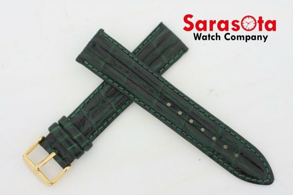 HIRSCH Professional Genuine Leather 1820 mm Long Stitched Green Watch Band 112027759185 5