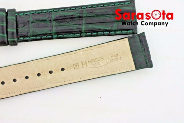 HIRSCH Professional Genuine Leather 1820 mm Long Stitched Green Watch Band 112027759185 6