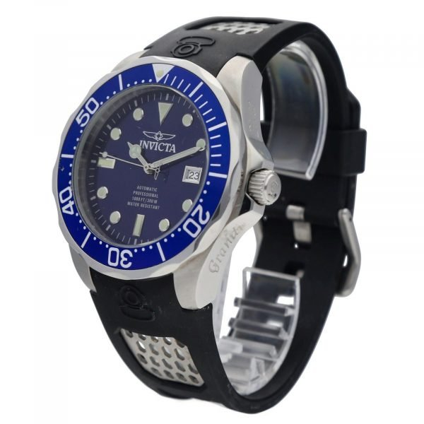 Invicta Grand Diver 11752 Blue Dial Steel 47mm Rubber Automatic Mens Watch 133597343265 2