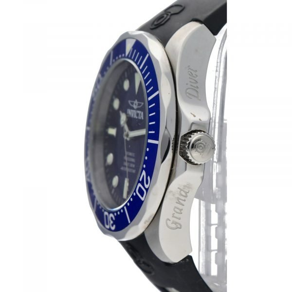 Invicta Grand Diver 11752 Blue Dial Steel 47mm Rubber Automatic Mens Watch 133597343265 3