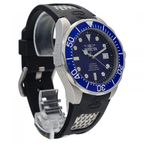 Invicta Grand Diver 11752 Blue Dial Steel 47mm Rubber Automatic Mens Watch 133597343265 5