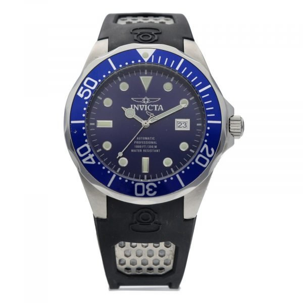 Invicta Grand Diver 11752 Blue Dial Steel 47mm Rubber Automatic Mens Watch 133597343265