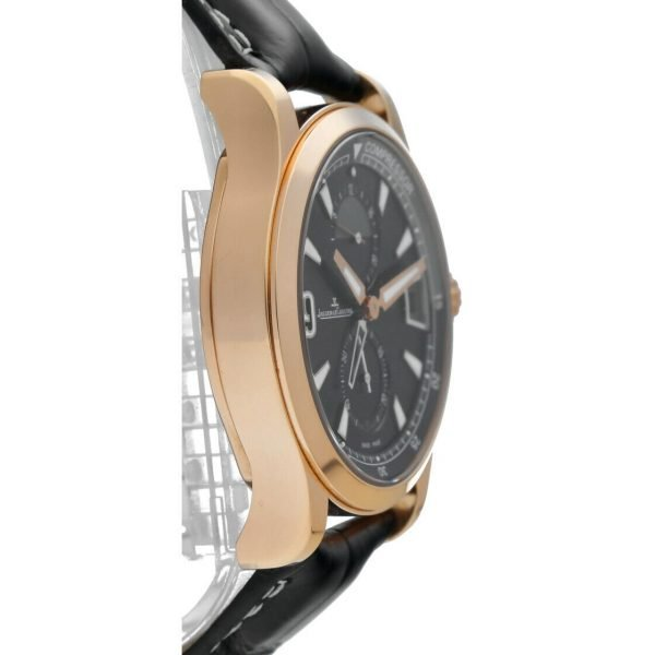 Jaeger LeCoultre 146205 Master Compressor GMT 18k Rose Gold Leather Mens Watch 124443522925 4