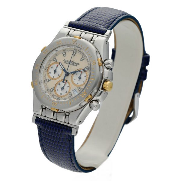 Jaeger LeCoultre Chronographe Kryos 305531 36mm 18kSteel Leather Unisex Watch 114373429465 2