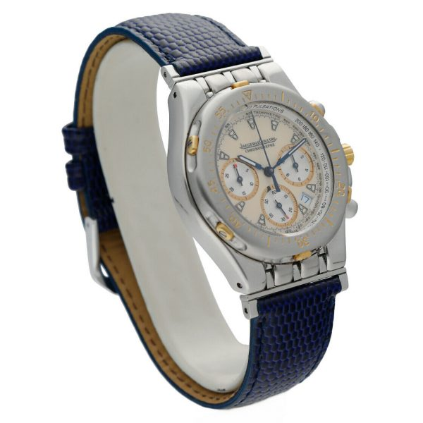 Jaeger LeCoultre Chronographe Kryos 305531 36mm 18kSteel Leather Unisex Watch 114373429465 4