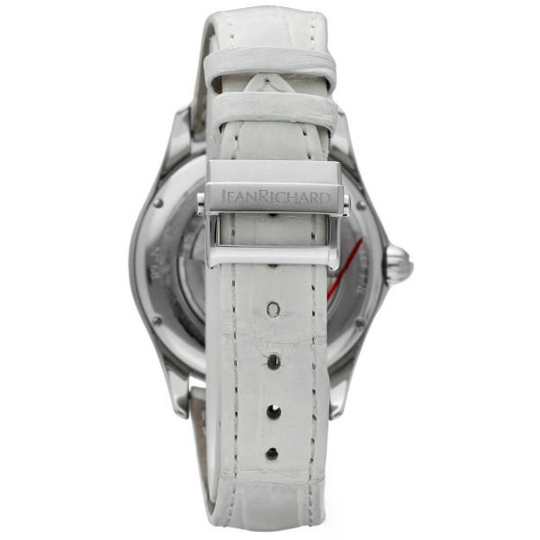 Jean Richard 61143 Bressel Pearl Dial White Leather Automatic Womens Watch 123731047015 5