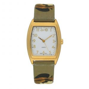 Jeon Gold Plated Tonneau Japanese Ladies Design Leather Quartz Womens Watch 133662900725