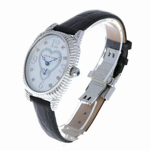 Judith Ripka Sterling Silver Collection Oval Case Heart MOP Dial Womens Watch 114140437595 3
