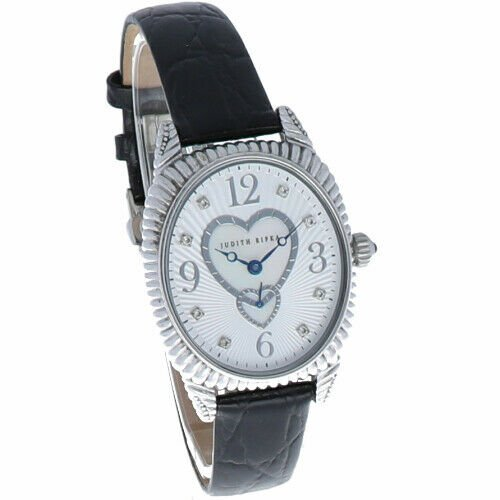 Judith Ripka Sterling Silver Collection Oval Case Heart MOP Dial Womens Watch 114140437595 4
