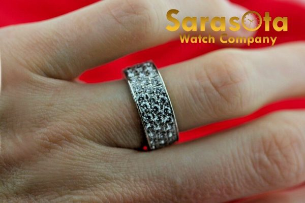 14k White Gold Eternity 550ct Diamonds 8mm Wide Womens Ring Size 525 113621549846 2
