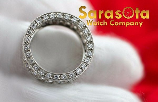 14k White Gold Eternity 550ct Diamonds 8mm Wide Womens Ring Size 525 113621549846 5