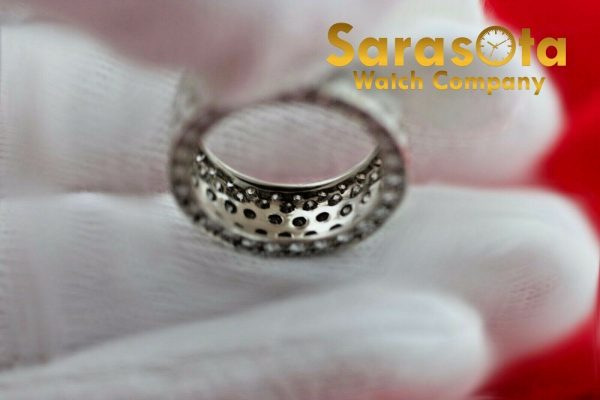 14k White Gold Eternity 550ct Diamonds 8mm Wide Womens Ring Size 525 113621549846 6