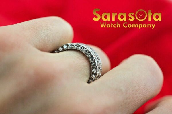 14k White Gold Eternity 550ct Diamonds 8mm Wide Womens Ring Size 525 113621549846 7