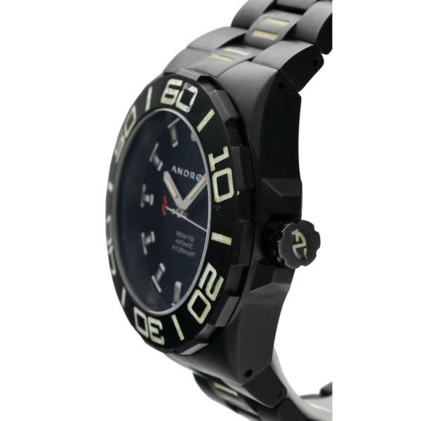Android AD671 Tritium T100 Black PVD Stainless Steel 48mm Automatic Mens Watch 124466370556 3
