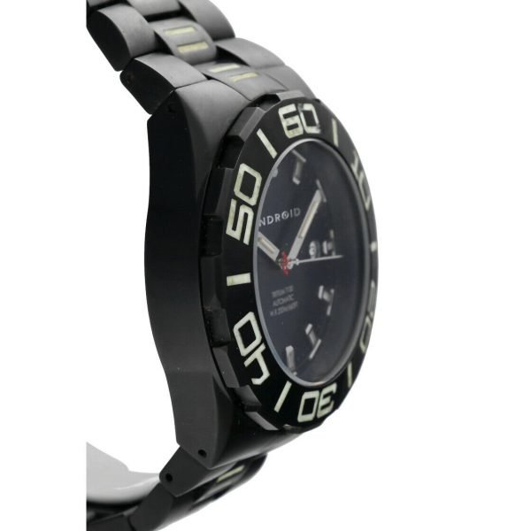 Android AD671 Tritium T100 Black PVD Stainless Steel 48mm Automatic Mens Watch 124466370556 4