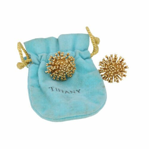 Authentic TiffanyCo 750 18k Yellow Gold Flower 23mm Clip Earrings 114190372256 2