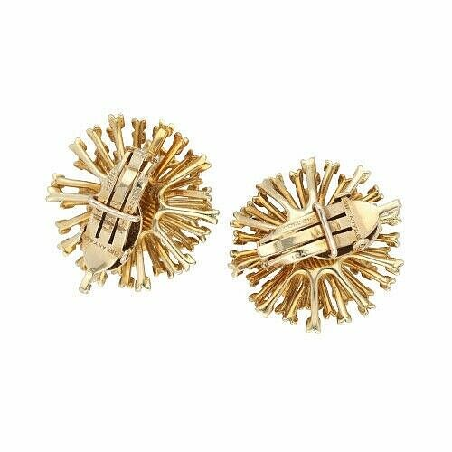 Authentic TiffanyCo 750 18k Yellow Gold Flower 23mm Clip Earrings 114190372256 3