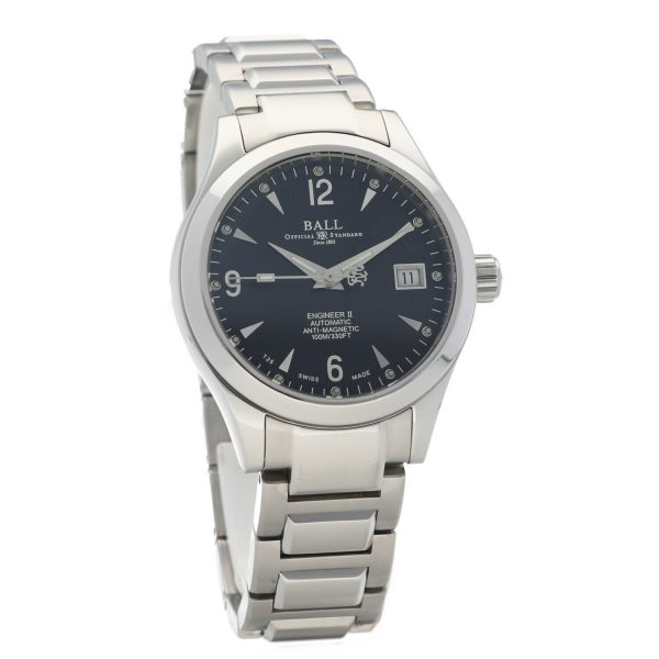 Ball NM1026C Engineer II Black Dial Stainless Steel 38mm Automatic Mens Watch 133796213806 4