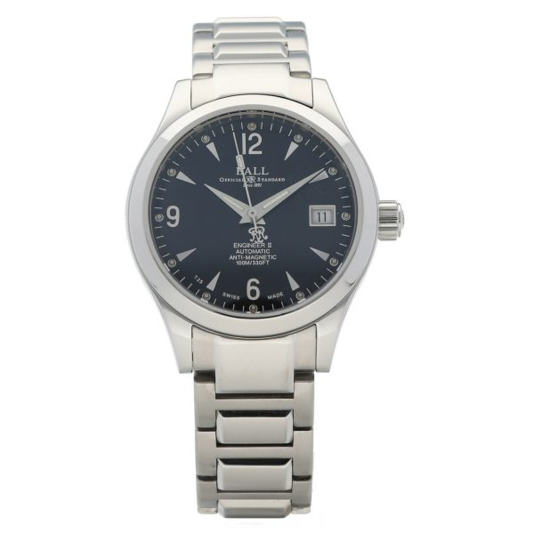 Ball NM1026C Engineer II Black Dial Stainless Steel 38mm Automatic Mens Watch 133796213806