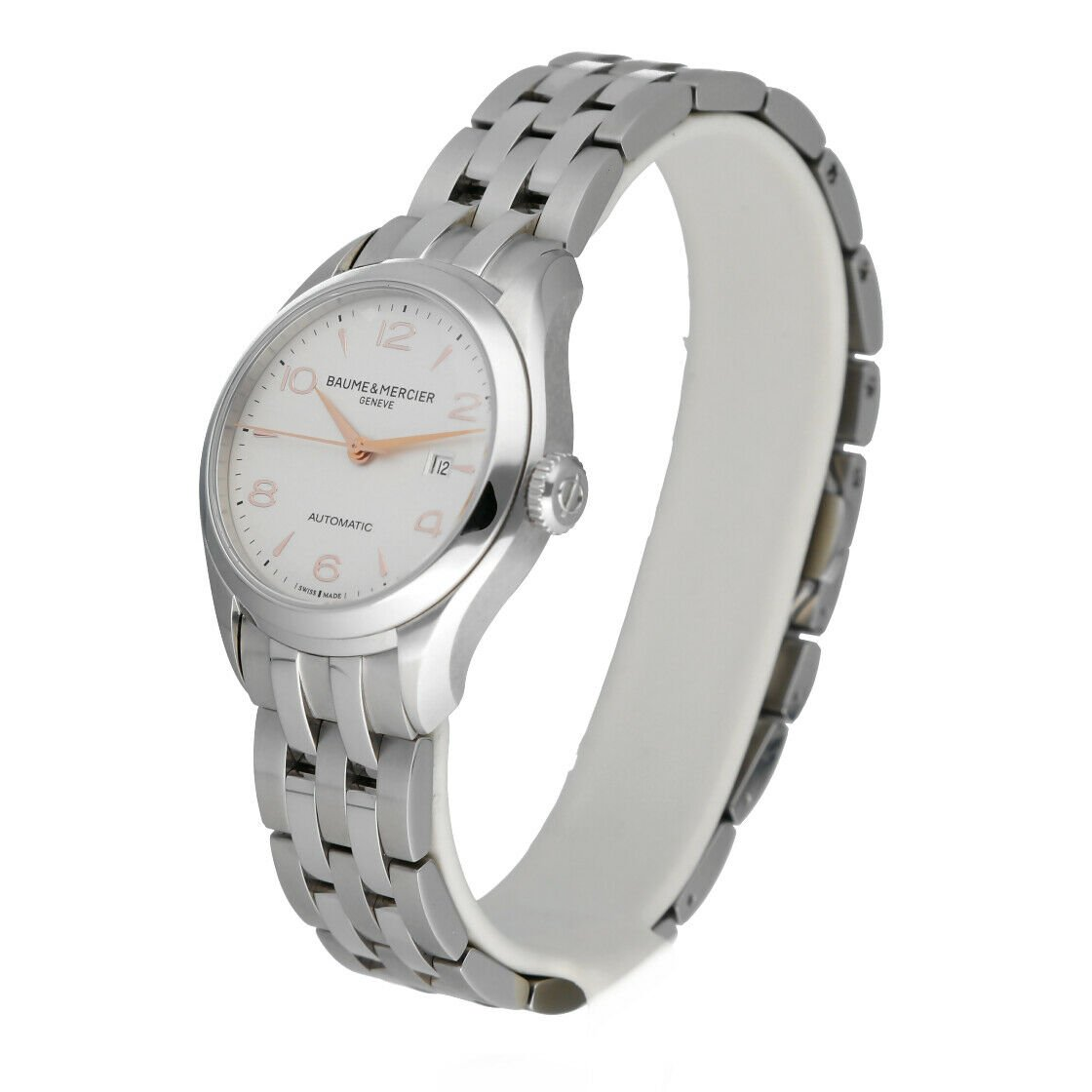 Baume Mercier Clifton M0A10150 Stainless Steel 30mm Automatic Ladies Watch 124285893226 2