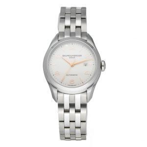 Baume Mercier Clifton M0A10150 Stainless Steel 30mm Automatic Ladies Watch 124285893226