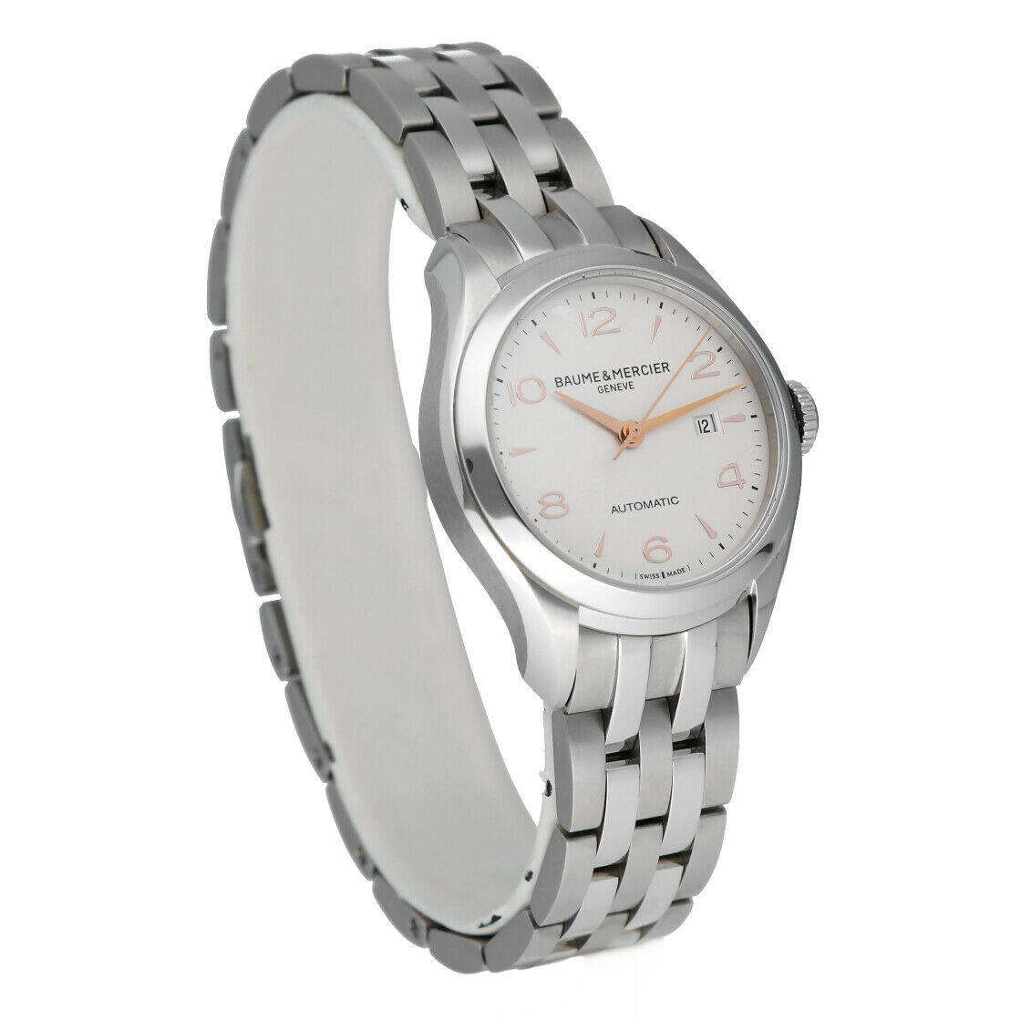 Baume Mercier Clifton M0A10150 Stainless Steel 30mm Automatic Ladies Watch 124285893226 4