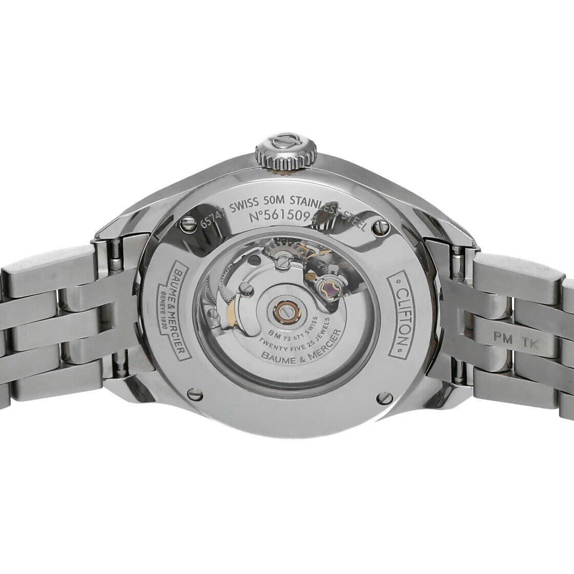 Baume Mercier Clifton M0A10150 Stainless Steel 30mm Automatic Ladies Watch 124285893226 7