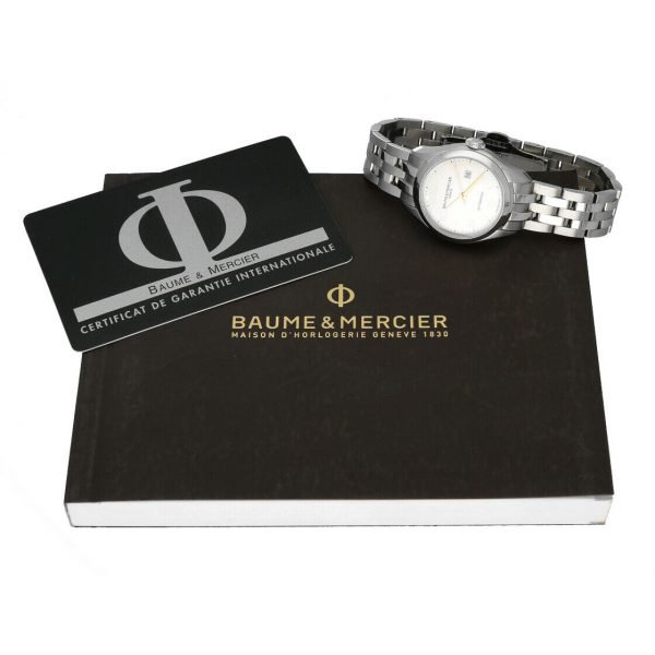 Baume Mercier Clifton M0A10150 Stainless Steel 30mm Automatic Ladies Watch 124285893226 8