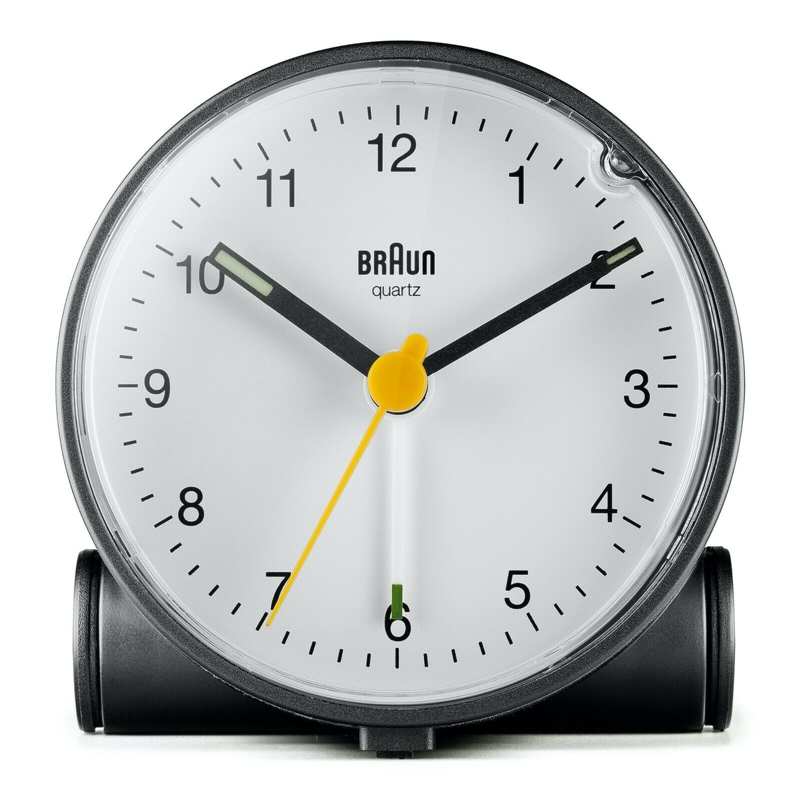 Braun BN BC01BW Black White Quartz Alarm Classic Travel Clock 124347560346