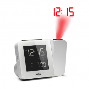 Braun BNC015WH RC White Digital Tilt Projection Digital LCD Quartz Alarm Clock 133636014826