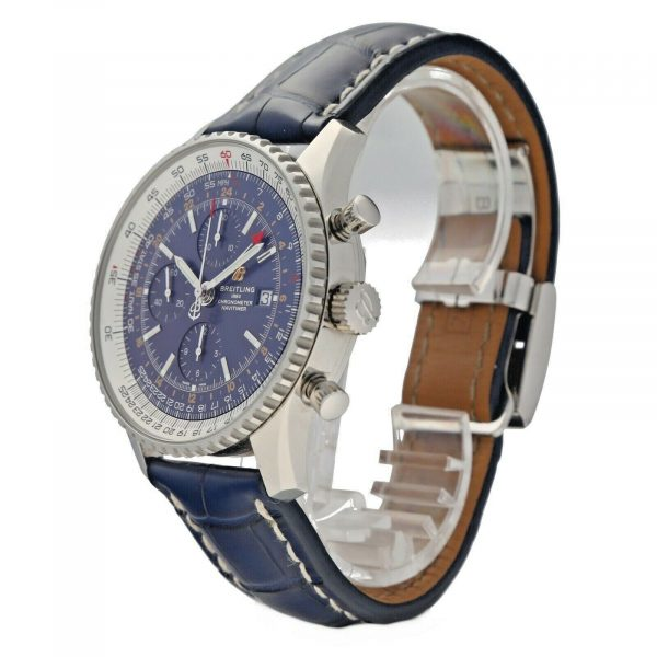 Breitling A24322 Navitimer Blue Dial 46mm Chrono Leather Automatic Mens Watch 114636551896 2
