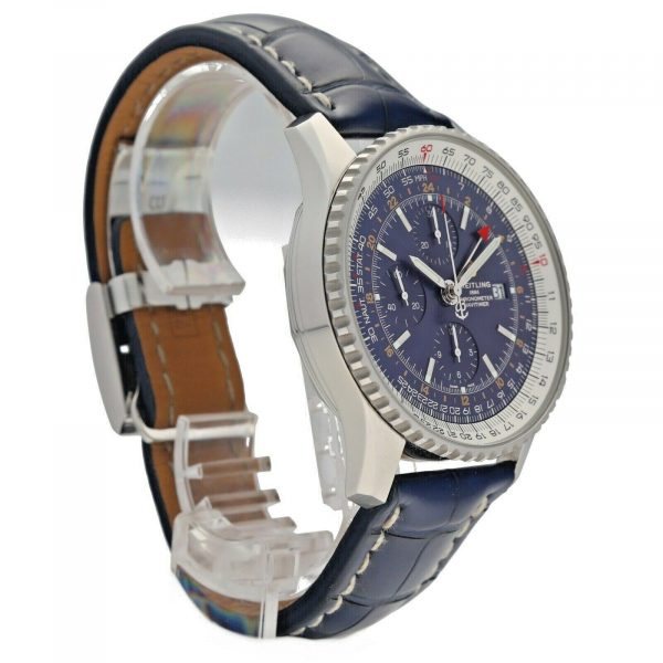 Breitling A24322 Navitimer Blue Dial 46mm Chrono Leather Automatic Mens Watch 114636551896 5