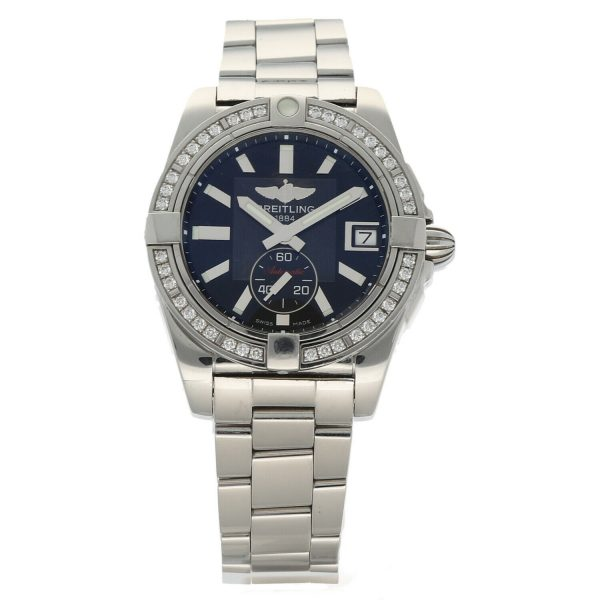 Breitling A37330 Galactic 36 Steel Black Dial Diamonds Automatic Womens Watch 114897552606 2
