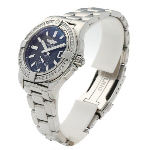 Breitling A37330 Galactic 36 Steel Black Dial Diamonds Automatic Womens Watch 114897552606 3